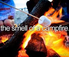 the smell of a campfire