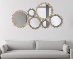 Oglinda decorativa de perete Angrenaj 137x73,50cm Modernism, Mirror, Furniture, Home Decor, Bed Ideas, Modern Architecture, Decoration Home, Room Decor, Mirrors