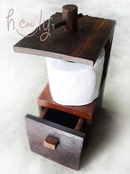 Wooden Toilet Paper Holder