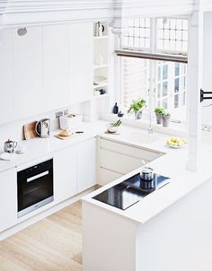 The Best 2019 Interior Design Trends - Interior Design Ideas Small Modern Kitchens, Home Kitchens, Küchen In U Form, Scandinavian Style Home, Home Design Diy, Cool Furniture, Kitchen Remodel, Kitchen Decor, Sweet Home
