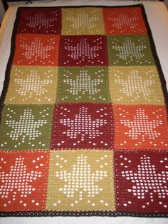 Maple Leaf Filet crochet