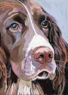 Takeyce s dog facebook friends, painting by artist Ria Hills