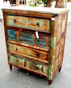 This chest of drawers looks a bit Balinese/Indonesian. Love the idea of this