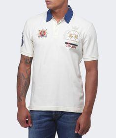 La Martina White Contrast Collar Guards Polo Shirt