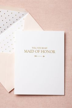 To-The-Heart Maid of Honor Card in Décor Stationery at BHLDN