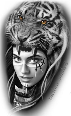 Tattoo Indio, Inca Tattoo, Tiger Tattoo, Indian Girl Tattoos, American Indian Tattoos, Body Art Tattoos, Tattoo Drawings, Sleeve Tattoos, Female Tattoos