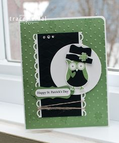 My Creative Side: Happy St. Patrick's Day!  Owl punch from Stampin' Up