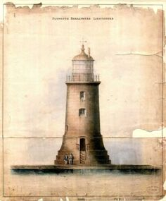 Lighthouse prints | Trinity House, Plymouth Breakwater