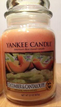 Yankee-Candle-22-oz-Large-Jar-Cucumber-Cantaloupe-Lt-Orange