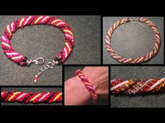 beading4perfectionists : Russian spiral seedbead bracelet beginners beading tutorial