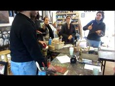 Encaustic class demo. Teacher: Sergio at OlivosARTstudio