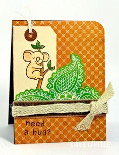hug card by LFDT13, via Flickr - koala stamp