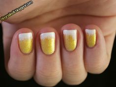 Beer nail art - goes perfect with the hotdog and baseball nails! Cute Nail Art, Cute Nails, Pretty Nails, Do It Yourself Nails, How To Do Nails, Baseball Nail Art, Beer Day, Beer Week, Nail Art Blog