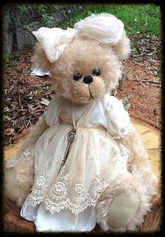 Sweet shabby teddy                                                                                                                                                                                 More