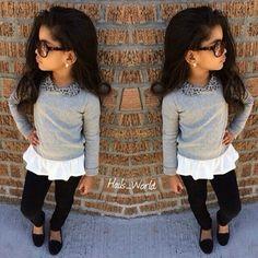 nice Little girl fashion. Little Girl Outfits, Cute Outfits For Kids, Little Girl Fashion, Cute Little Girls, Toddler Fashion, Toddler Outfits, Cute Kids, Kids Fashion, Fashion 2014
