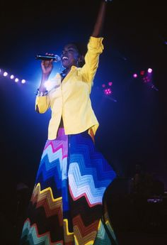 Lauryn Hill performing live onstage on Jan. 1, 1999, at Brixton Academy in the United Kingdom.