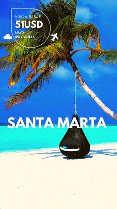 Disfruta nuestras ofertas de vuelos hacia Santa Marta durante el mes de MAYO. #Colombia #ConoceColombia #ViajesNacionales #SantaMarta #viajabarato #Vuelosbaratos #Fueradelarutina