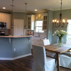 Joanna Gaines, Parade Home, 1301 n 46th st. Waco. Believe the color is SW Oyster Bay.