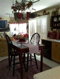 country primitive kitchen   Primitive Great Space, My primitive country great room. For those not ...