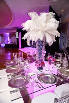 Modern Elegance, crystal bling Center Piece.