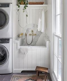 Laurie French Inspired Kitchen, Mudroom, Laundry and Pantry Renovation by ReDesign Home LLC Small Laundry Rooms, Laundry Room Design, Laundry Area, Custom Home Builders, Custom Homes, Design Jobs, Laundry Room Inspiration, Interior Inspiration, Interior Design Business