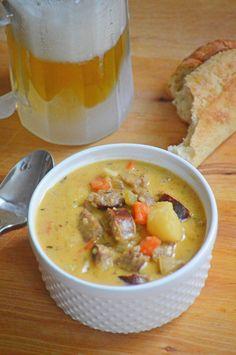 Bratwurst Cheddar Soup