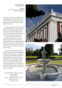 Ein schöner Bericht! :)  Heritage Magazin Ausgabe 04/2014  #architektur #heritage #traxmatthies
