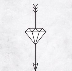 "A diamond stands for ""unbreakable"" while the arrow represents how that hard times always lead you to great things. So excited to get this."