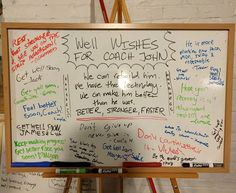 Coach John has been out after a hip surgery. Don't forget to sign his well wishes white board! http://aafa.me/2qKnfj5