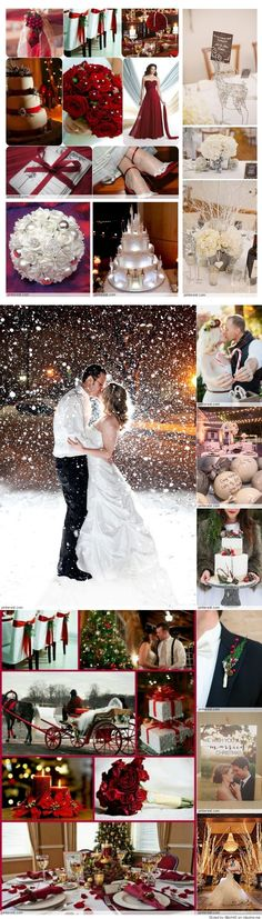 What great ideas for a Christmas wedding. Love all the red and white decorations, the picture of the bride and groom in the snow and the red, flowing bridesmaids dresses. Kris and Nick ❤️ Red Wedding, Wedding Bells, Perfect Wedding, Wedding Day, Wedding Disney, Wedding Gifts, 2017 Wedding, October Wedding, Wedding Ring