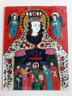 Lady Madonna, Virgin Mary, Penguins, Mexican, Comic Books, Comics, Cover, Glass, Painting