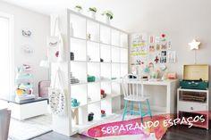Mora em um apartamento pequeno e quer criar espaços com diferentes ambientes? Divide quarto e...