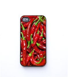 Ruby red hot peppers iPhone 4 Case chili Thai food by bomobob, $30.00