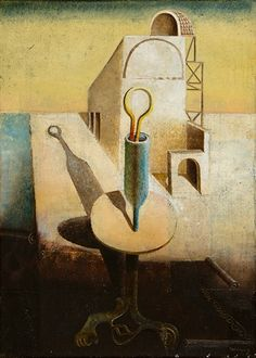 Otto Tschumi L'architecte obstiné, 1937 Painting, Surrealism, Auction, Do Your Thing, Painting Art, Paintings, Painted Canvas