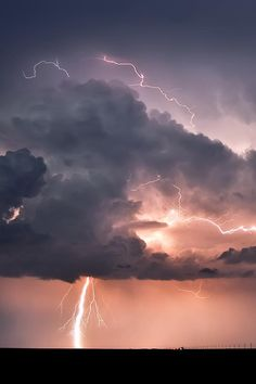 A thundercloud with a lightning, Storm forces of nature, Lightning, Sky, Storm All Nature, Science And Nature, Amazing Nature, Storm Clouds, Sky And Clouds, Beautiful Sky, Beautiful World, Wild Weather, Thunder And Lightning
