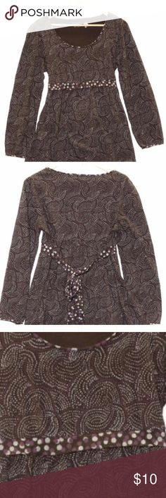 Sonoma Style Ladies Blouse Lovely Sonoma LifeStyle Brand Ladies Blouse. This item is made from a cotton blend and is a size Large.  Has a beautiful sash around the waist to enhance your figure. In very good condition. Sonoma Tops Blouses