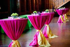 high top tables with ribbon - Google Search