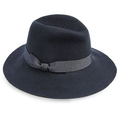 Lafayette 148 New York Felted Rabbit Hair Fedora (7.435 CZK) ❤ liked on Polyvore featuring accessories, hats, apparel & accessories, blue storm, fedora hat, blue fedora, rabbit fur hat, blue hat and rabbit hat