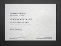 Great Letterpress wedding invitation