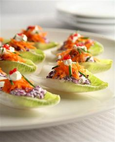 Make with Romaine. Love the look of these with all the color.