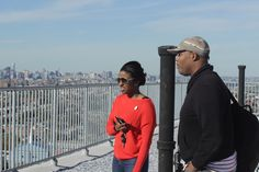 Kingsborough Projects rooftop. We can see Jersey from here! #NYCHA