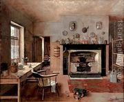 Kitchen at the old King Street Bakery 1884  by Frederick McCubbin