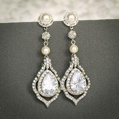 Beautiful wedding earrings solid 925 sterling silver christmas gift women nice #NikiGems #DropDangle