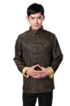 a35ac4bdd99 JTC Mens Tang Suit Chinese Kong Fu Top Tai Chi Han Shirt Costume Sport  Loose L