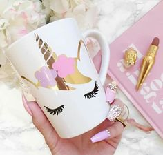 Cute Unicorn Mug & Perfect Nails