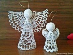 Handmade by Ecola & Dana Art - Aniołki 2015 Beach Cottage Style, Crochet Earrings, Quilts, Handmade, Diy, Ornaments, Hand Made, Bricolage, Quilt Sets