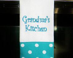 Personalized Kitchen Towel Lipstick Red by DesignsByThem on Etsy
