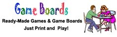 Academic Vocabulary Games--- board game print out