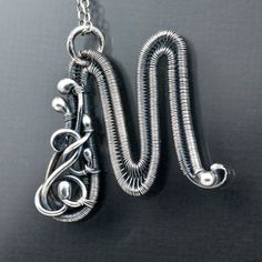 Fine Silver Initial Pendant - Letter M Pendant - Initial Jewelry. $60.00, via Etsy.