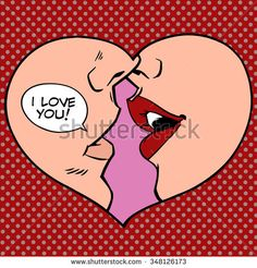 Heart kiss I love you pop art retro style. Man and woman romantic wedding or Valentines day Stock Vector - 50072985 Vector - Heart kiss I love you pop art retro style. Man and woman romantic wedding or Valentines day Pop Art Poster, Retro Poster, Retro Stil, Retro Pop, Pop Art Patterns, Pattern Art, Pop Art Drawing, Art Drawings, Images Pop Art